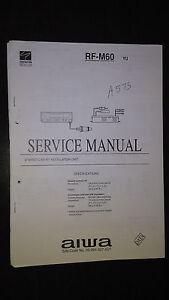 aiwa rf m60 service manual original repair book car stereo rf rh ebay com Aiwa Home Stereo Aiwa Home Stereo