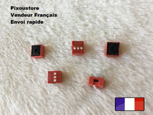 Lot de 5 micro interrupteur DIP 3 positions ON//OFF neuf DS2 Switch 3-52