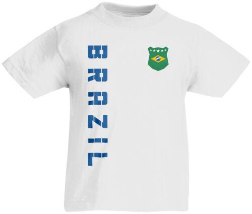 Kinder T-Shirt Trikot Brasilien Brazil inkl Name /& Nummer Mini WM 2018