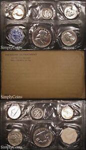 1957 Proof Set ~ Flat Pack Original Envelope ~ US Silver Mint Coin Set
