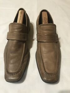 Vintage Kenneth Cole Reaction Shoes Men's Size 10.5 Suede Brown Leather Slip ons