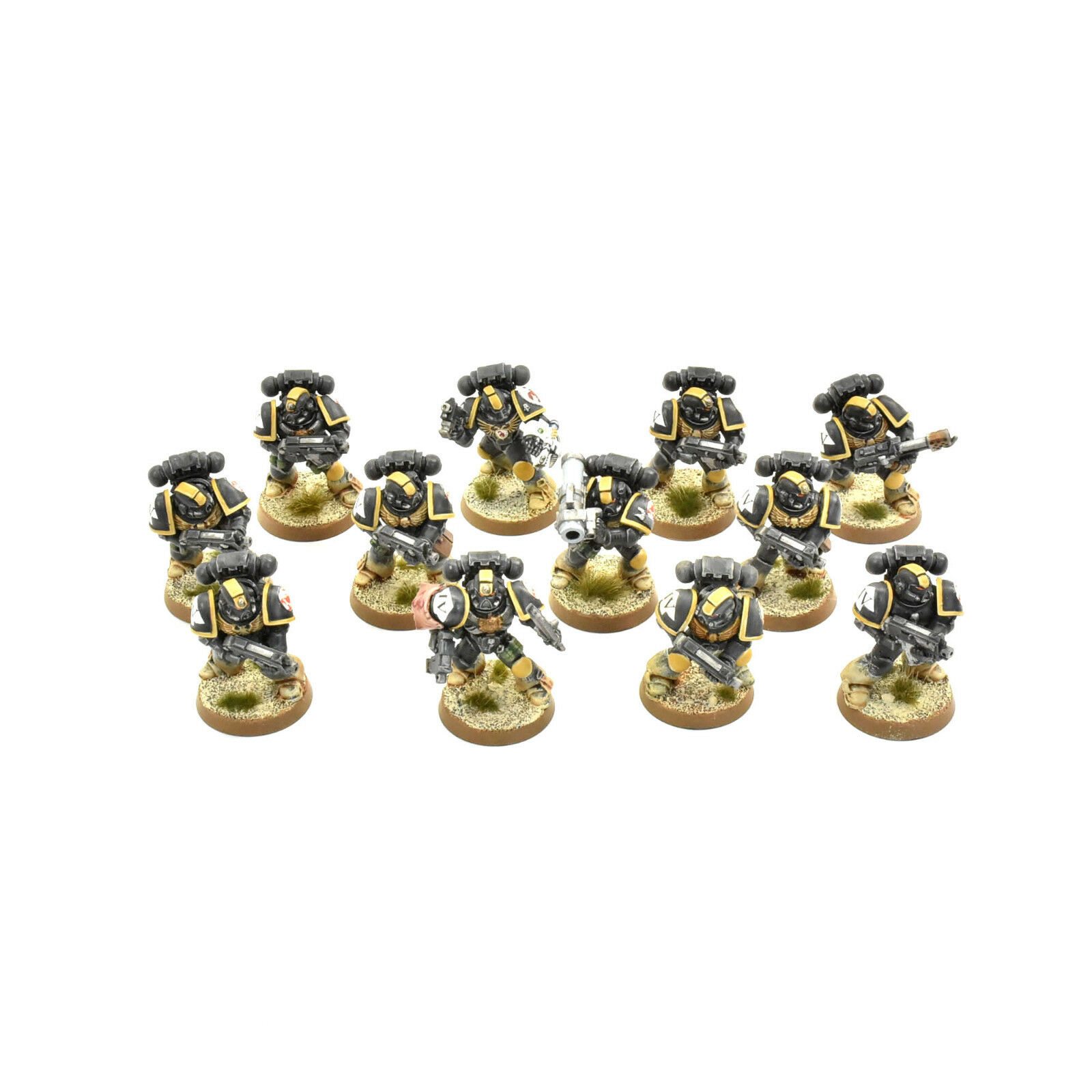 SPACE MARINES 10 tactical squad + 2 extra PRO PAINTED Red Scorpions