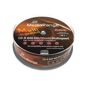 CD-R-Mediarange-800MB-90min-Inkjet-FF-Printable-25-uds