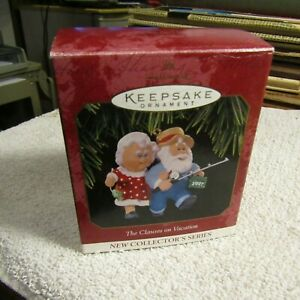 Hallmark Keepsake Ornament, The Clauses on Vacation - 1997 1st in New Series