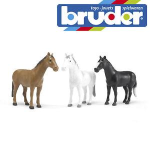 Bruder-Horses-3-Designs-Kids-Childrens-Farm-Toy-Model-Figure-Scale-1-16