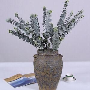 Kunststoff-Kuenstlich-Blume-Eukalyptus-Pflanze-Gruene-Blaetter-Buero-Zuhause-Dekor