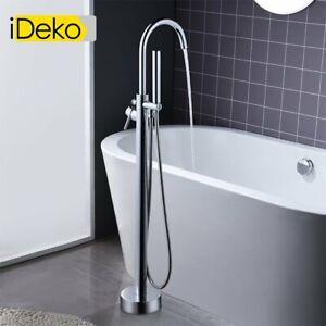 Détails sur Robinet de baignoire ilot sur Pied salle de bain douche  verticale avec Douchette