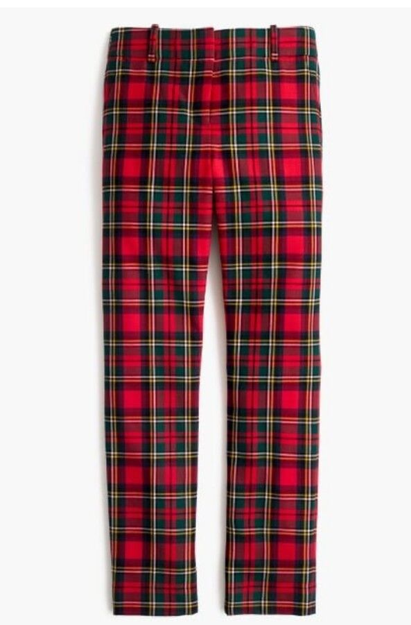 NWT J Crew Cameron Slim Crop Pant in Tartan Plaid Two-Way Stretch Wool Sz 10