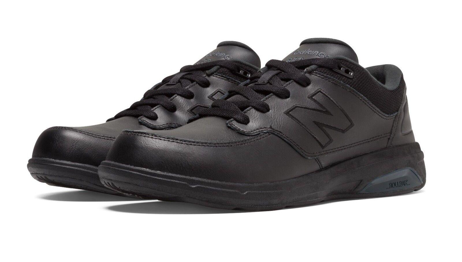 New Balance MW813BK Men's 813 Black Leather Motion Control Health Walking shoes