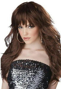 Long Brunette Wig With Bangs 74