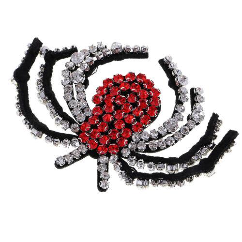 Diamante 3D Spider Design Strass Applikation Patch Nähen auf Kleidung