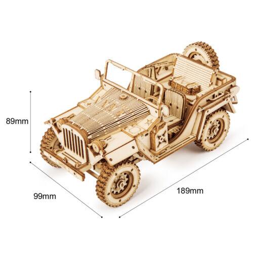 Jeep Model Kits 3D Wooden Puzzle 369pcs DIY Car STEM Toy Gift for Kids Teens Boy
