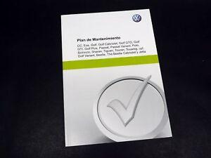 Vw Plan De Mantenimiento Original Serviceheft Serviceplan Español Ebay