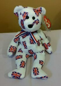MWMT Ty Beanie Baby Jack black nose Bear UK Country Exclusive 2003