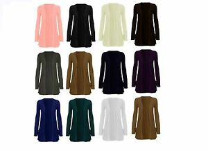 NEW-WOMEN-LADIES-LONG-SLEEVE-BOYFRIEND-CARDIGAN-WITH-POCKETS-PLUS-SIZES-8-22