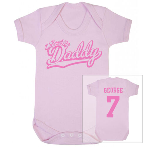 I love my daddy Football Personnalisé Baby Body