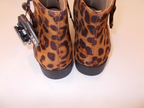 Time And Tru Women/'s Leopard Print Memory Foam Ankle Boots Size 7 9 10 11