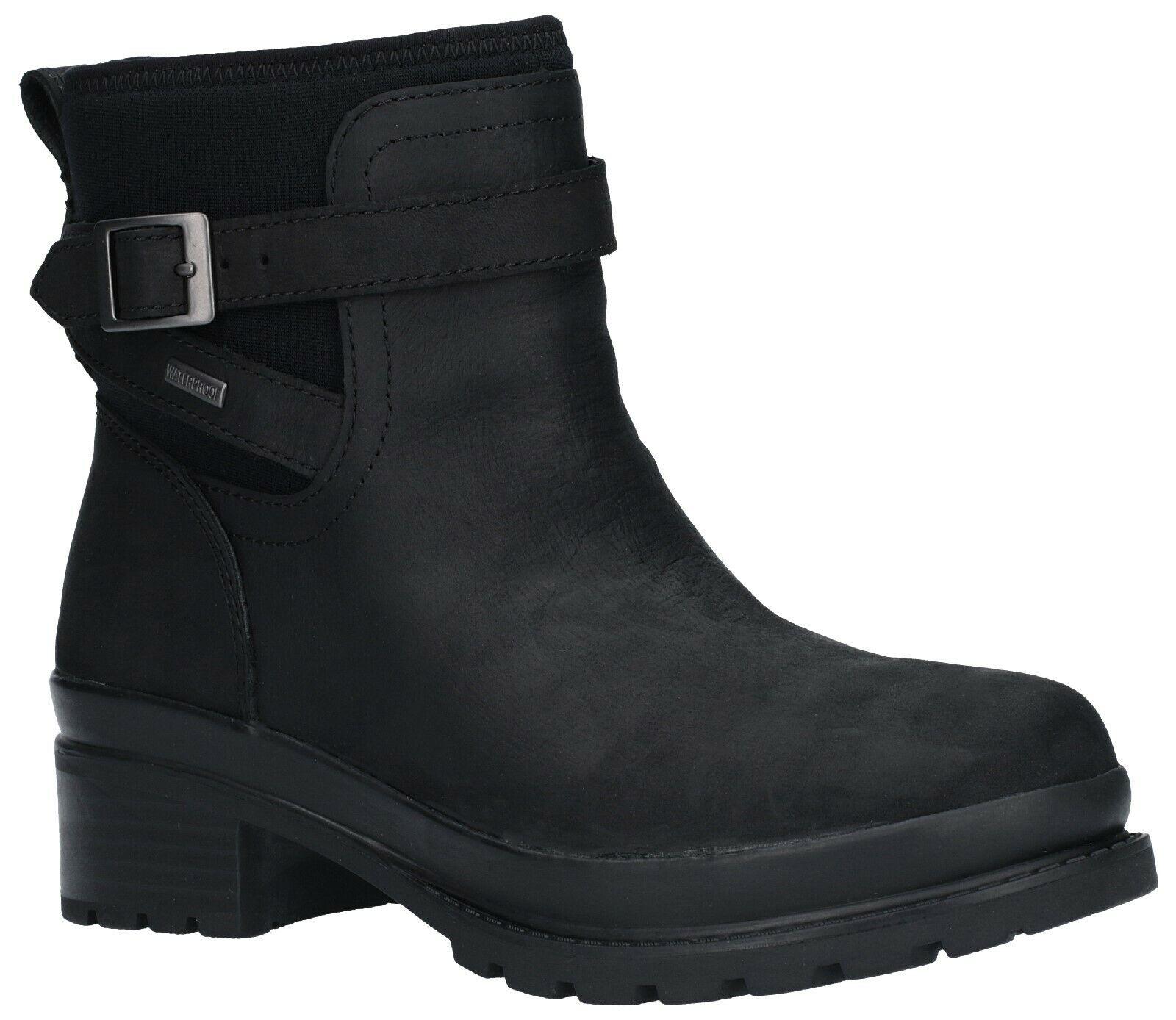 Muck Stiefel Liberty schwarz waterproof leather slip-on ankle Stiefel