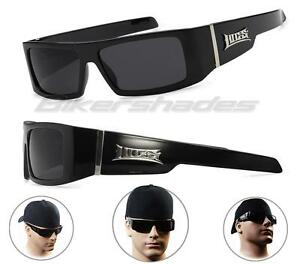 00a2953458 Image is loading Authentic-LOCS-Sunglasses-Black-Gangster-Shades-Super-Dark-