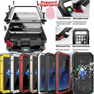 timeless design defd2 5fd49 Heavy Duty Waterproof Bumper Metal Case iPhone X Samsung S9 Note 8 9 ...
