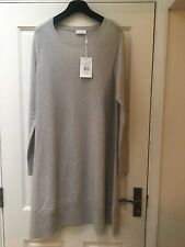 THE WHITE COMPANY Silver Grey Marl Cashmere & Wool Dress Size XL 16/18 BNWT