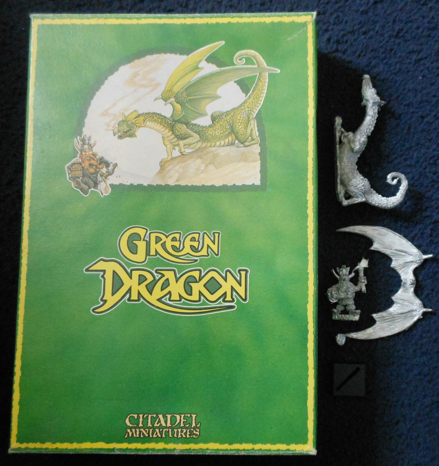 1987 DRAG3 Green Dungeons & Dragons Games Workshop Citadel Warhammer Dwarf AD&D