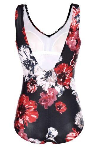 Eleganti Costume da Bagno Nero-Rosso-Bianco 44 48 50 52 54 56 58 60 62 64 66 Coppa B Nuovo