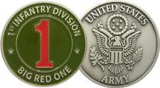 """1ST US INFANTRY DIVISION """"BIG RED ONE"""" COLOR (monnaie commémorative)"""