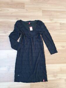 Details zu Edc by Esprit Leichtes Freizeit Etui Business Abend Kleid Schwarz Gr S 36 38 NEU