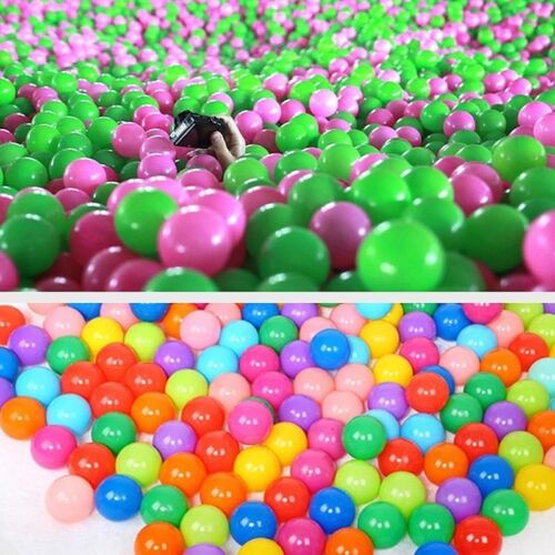100pcs Multi-Color Cute Kids Soft Play Balls Toy for Ball Pit Swim Pit PoolODUS