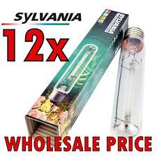 Box 12 x SYLVANIA 600w HPS GROLUX DUAL SPECTRUM GROW LAMP Sun Master Light Bulb