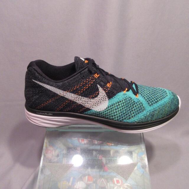 the latest 11491 279d6 Nike Flyknit Lunar 3 US 12 UK 11 EU 46 Run Running HYPER Jade Black 698181  008