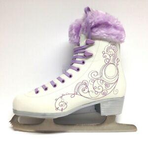 Oxelo-Ice-Art-3-purple-Fell-Schlittschuhe-Damen-Schlittschuh-Eiskunstlauf-Gr-41
