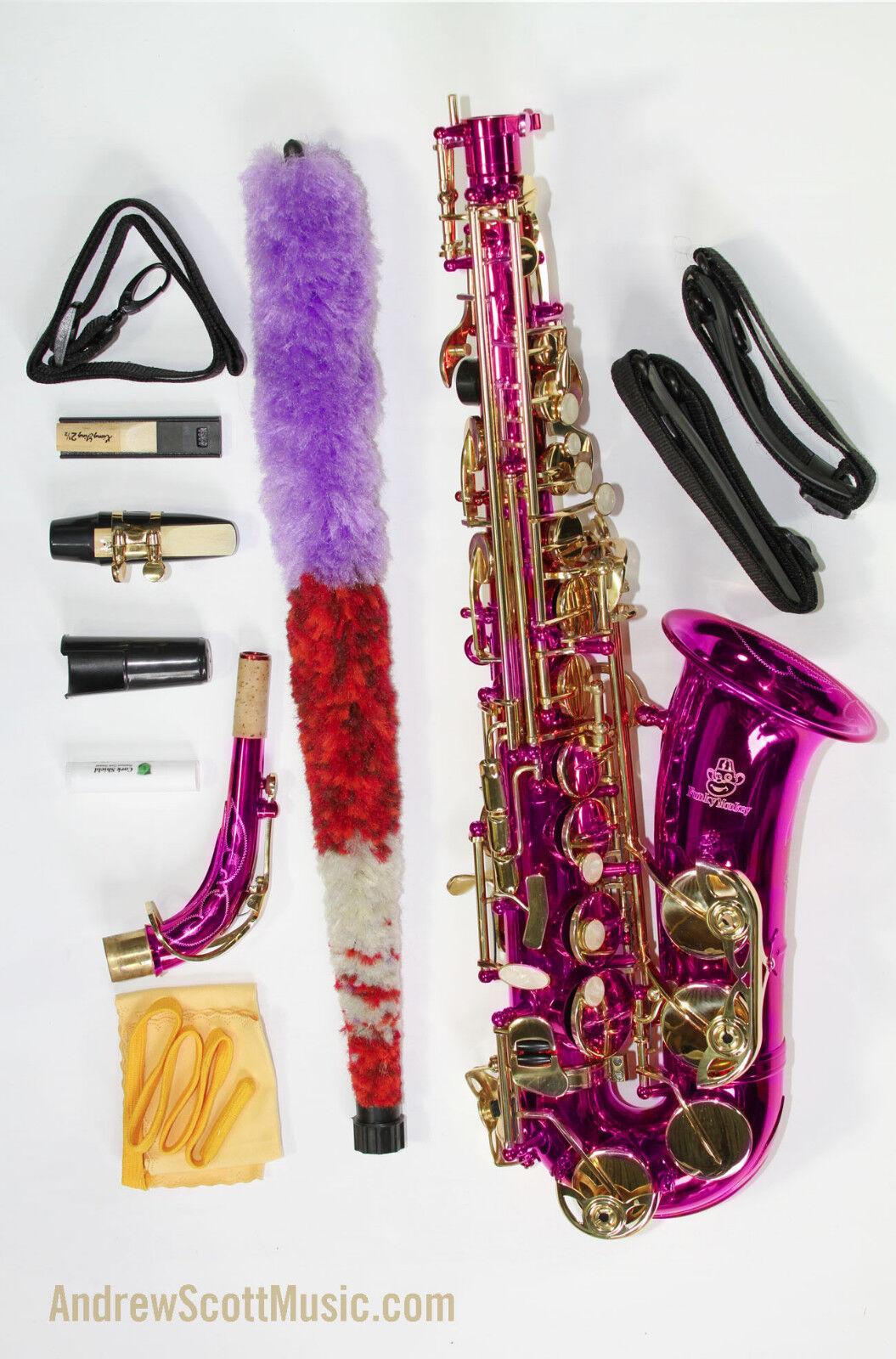 Nuevo Saxofón Alto en caso rosadodo caliente-OBRA MAESTRA MAESTRA MAESTRA 3a1865