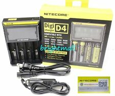 New 2016 NITECORE D4 Digi charger Charger For AA 18650 14500 18350 w/car charger
