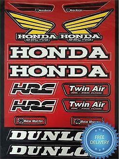 4MX Sticker Decal HRC Dunlop Twin Air M Master fits CRF 70 F 02