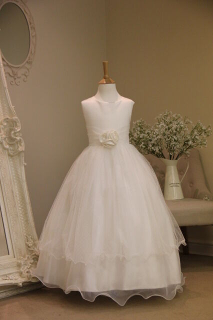 FLOWER GIRL CHRISTENING DRESS OCCASION PARTY BRIDESMAID WEDDING FORMAL WEAR