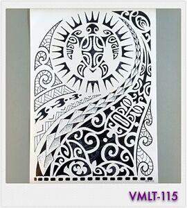 Tribal Tattoo Einmal Tattoo Schwarz W115 Fur Oberarm Ebay