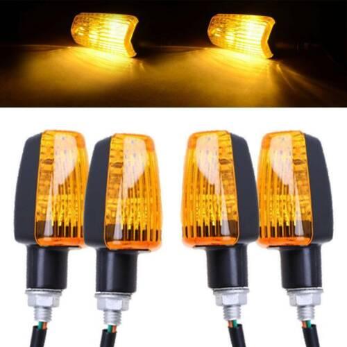 4x UK Motorbike 12V Turn Amber Indicator Light Signals Scooter Lamp Blinker