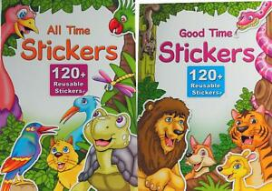 Set Of 2 All / Good Time Stickers Books With Over 240+ Stickers And Activities