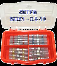 Boite d/'assortiment de 56 connecteurs auto soudeur ZETFB-BOX 1-0.8 à 10 mm²