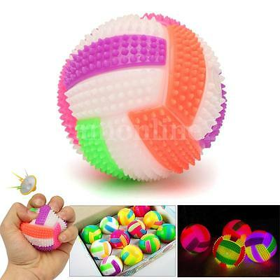 LED Sound Anti Stress Relief Reliever Ball Mood Squeeze Hand Wrist Exercise Toy