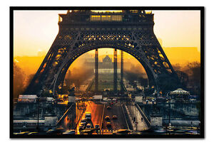 Eiffel-Tower-Sunrise-Paris-Framed-Cork-Pin-Notice-Board-With-Pins