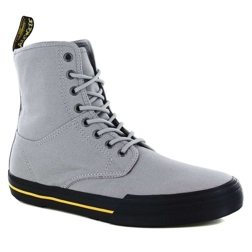 Dr Martens Martens Dr Winsted Mens Canvas 8-Eyelet Hi-Top Boots Mid Grey c597b9