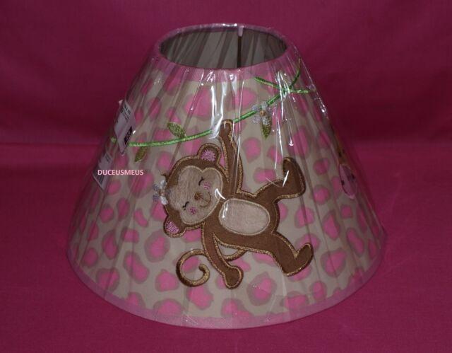 Koala Baby Pink Lique Monkey Giraffe Embroidered Nursery Lamp Shade Bhfo 2952