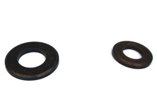 6,4 mm Größen 5,3 mm 4,3 mm Unterlegscheiben DIN 125 in Messing brüniert