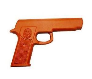NEW-Fake-Rubber-Training-Practice-Gun-Orange-Self-Defense-Martial-Arts-Police