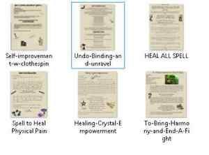 6-Healing-Spells-Lot-for-Wicca-Witchcraft-Pagan-Book-of-Shadows-on-Parchment