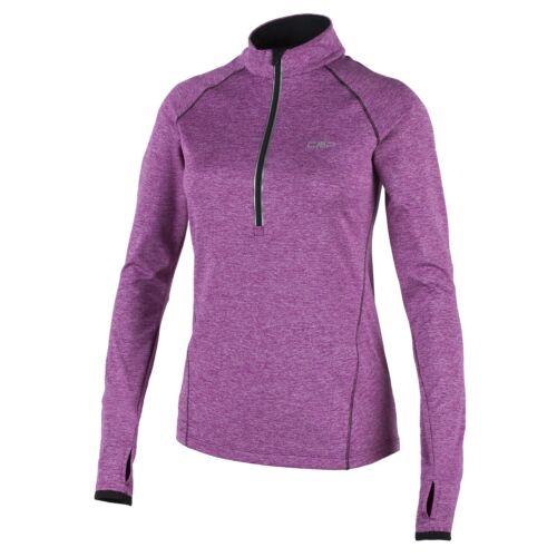 CMP Laufshirt Sport Shirt Fonction Corsage violet stretch Softech Col