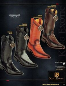 0d186a2f9a3 Details about King Exotic Men's European Toe Genuine Caiman Belly Cowboy  Western Boots